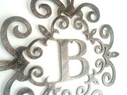 decorative metal wall art letters