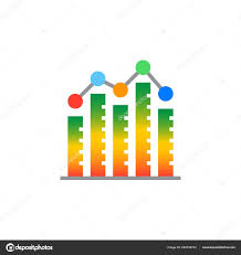 Bar Graph Column Chart Icon Vector Filled Flat Sign Solid