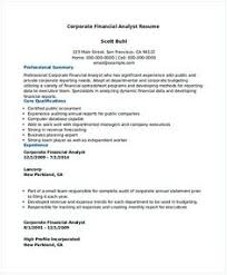 Financial Analyst Resume Example Best Of Corporate Financial Analyst Resume Sample Financial Analyst Resume