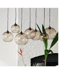 west elm lighting. West Elm Glass Orb Chandelier - Luster Lighting Light Fixtures Pendant Lights
