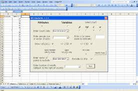 Attribute Chart Main Window Showing Data Input For Attribute Chart