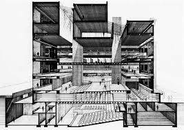 architecture building drawing. Government Service Center, Boston, Massachusetts, 1964-72 Paul Rudolph Architecture Building Drawing