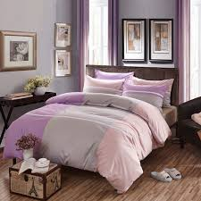 china home 100 cotton bedding sets luxury grey and white striped comforter sets supplier