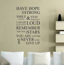 inspirational wall e decals wall decals charming inspirational word wall decals full image for unique coloring