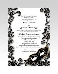 Masquerade Wedding Invites Gorgeous Black And White Invitations For A Masquerade Wedding Also