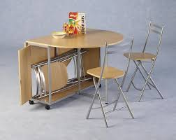 portable oval double drop leaf kitchen table for small spaces with wheels and folding chairs storage ideas