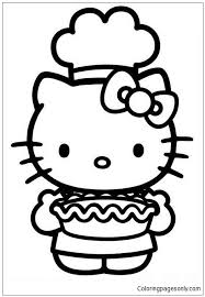 Hello kitty merry christmas coloring pages sheets. Hello Kitty Cooking In Thanksgiving Day Coloring Pages Cartoons Coloring Pages Free Printable Coloring Pages Online