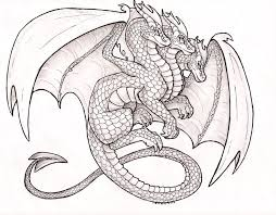 Small Picture 136 best Lineart Dragons images on Pinterest Dragon Drawings