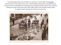 unit birth of modern america ppt  the gilded age refers to a brief time in american history after the civil war restoration