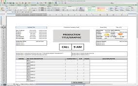 call sheet template excel 5 useful microsoft excel templates for indie film tv production