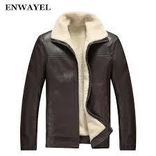 2018 whole enwayel brand autumn winter high quality pu faux leather jacket men casual thick warm velvet mens jackets coat male motorcycle from charle
