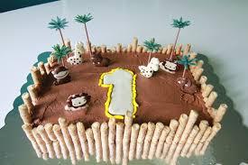 1st Birthday Cake Boy Monkey Jungle Animals First For A Giraffe