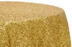 picture of table cloth 108 gold glitz sequin round
