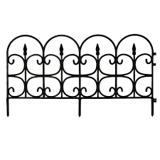 black steel 3 rail fence panel 860190 the home depot
