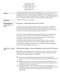 Gallery Of Example Of A Written Resume