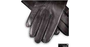 black co uk men s black cashmere lined leather gloves in black for men lyst