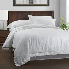 com simple once 100 linen duvet cover set 3 piece white and grey solid wash queen size 1 duvet cover 2 pillowcases home kitchen