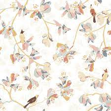 LayerPlay Wallpaper | Art Studio Helene | Bird on a Branche — Pastel