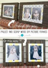make some rustic and unique diy picture frames from pallet and s wood easy to