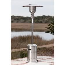 fire sense commercial series 46 000 btu propane gas patio heater with electronic ignition stainless steel 1775 bbq guys
