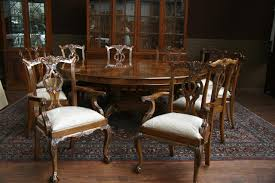 large dining room table for classic look small formal dining room design with large round