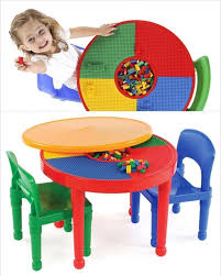 kids activity table and chair set toddler play eat art desk storage furniture