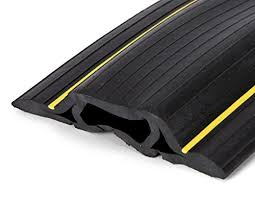 Office cable covers Desk 65 Feet Heavy Duty Cable Protector Cord Cover Cord Channels Durable Black Csrlalumniorg Buy Floor Cord Covers Cord Management Online Electronics For