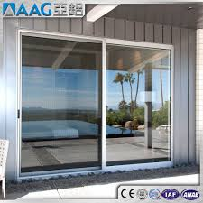 high quality modern aluminum automatic sliding glass door for commercial