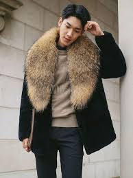 faux fur coat men s turndown collar long sleeve regular fit short coat no