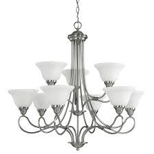 kichler stafford 33 in 9 light antique pewter vintage hardwired tiered chandelier