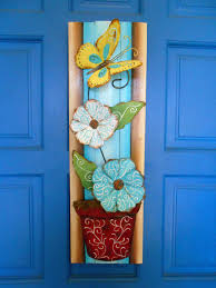 Decorative Door Hangers Decorative Door Hanger Plank Art Wall Art Painted Door Art