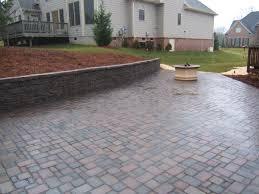brick paver patio design ideas hardscape winsome