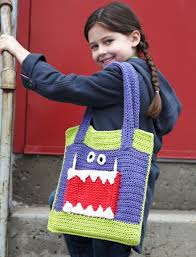 Yarnspirations Patterns Impressive Yarnspirations Lily The 'Monster Ate My Homework' Tote