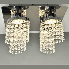 Beleuchtung Mit Kristallbehang Led Deckenleuchte Chrom