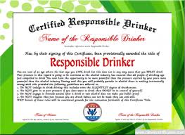 parenting certificate templates responsible drinker award free certificate templates you can add