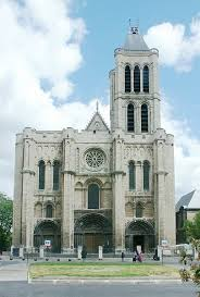 the second north tower was demolished after it was unsuccessfully restored the central rose window on the west front was one of the first in a long line basilica saint denis