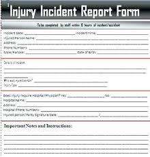 Incident Report Templates Doc Free Premium Download Health Human