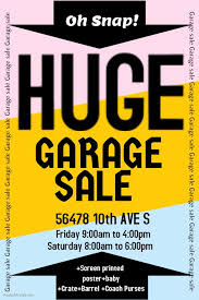 Garage Sale Flyers Free Templates Garage Sale Poster Template Click On The Image To Customize On