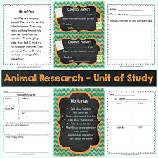 writing unit of study animal research the curriculum corner