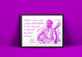 James Baldwin Author Quote On Love Author Art Print Typography Motivational Poster Wall Art Quote Print