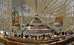 it is now know as christ cathedral closely resembling the name of the crystal cathedral