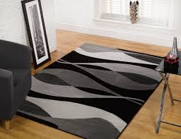 white and black area rug