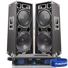 sound system. 2x max dual 12\u0026quot; pa speakers disco party sound system dj amplifier