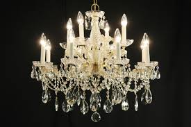 maria theresa 12 candle vintage strass crystal chandelier
