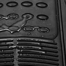 Floor Mats for SUVs Trucks Vans 3pc Set All Weather Rubber Semi ...