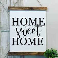 Amazon.com: home sweet home sign, canvas scroll wall hanging sign: Handmade