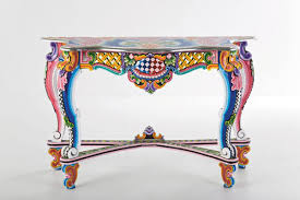 painting designs on furniture. Vibrant Paint Brings New Life To This Table Painting Designs On Furniture A