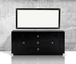 bellagio modern black crocodile lacquer dresser