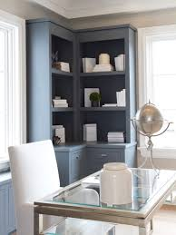 View in gallery farmhouse-home-office corner built in shelves
