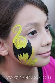 easy face painting ideas for cheeks inspirational batman cheek monliet face paint cheek art